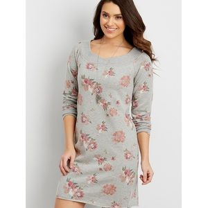 Maurice's floral sweatshirt dress boatneck M